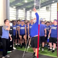 Watch this high school team manager set a new jump record