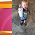 Watch this little boy react when he hears 'Mommy's home!'