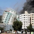 Israeli military airstrike targets media tower in Gaza
