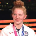 US swimmer Lydia Jacoby talks about her upset gold medal in 100m breaststroke