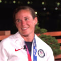 American Katie Zaferes wins bronze in triathlon, inspired by her late father