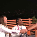 Jordan Chiles is thrilled by surprise meeting with Michael Phelps