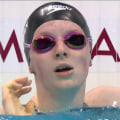 Gold medal swimmer Lydia Jacoby wears a former Olympian's goggles