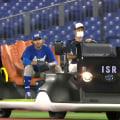 Baseball bullpen cart in Tokyo is a glove throne