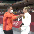 German judo athlete's pre-competition ritual: Her coach slaps her!