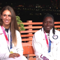 Team USA winners in women's discus and women's long jump talk to TODAY