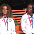 Sydney McLaughlin, Dalilah Muhammad talk about their 1-2 finish in women's 400m hurdles