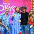Gold medal swimmer Caeleb Dressel and his family visit TODAY plaza live