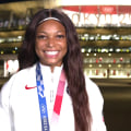 Gabby Thomas talks about winning bronze in women's 200m: 'I was ecstatic'