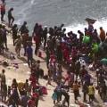 Thousands of migrants have gathered under Texas bridge