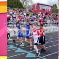 Watch teen with rare genetic condition finish his first track meet