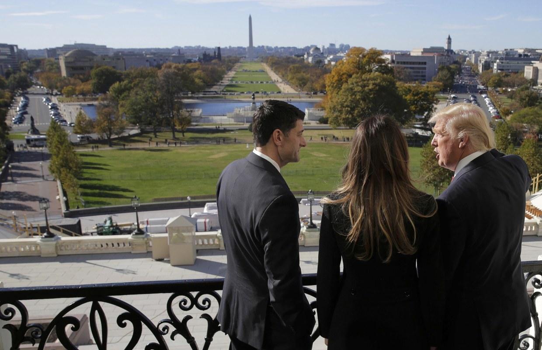 President-Elect Trump Tours Washington