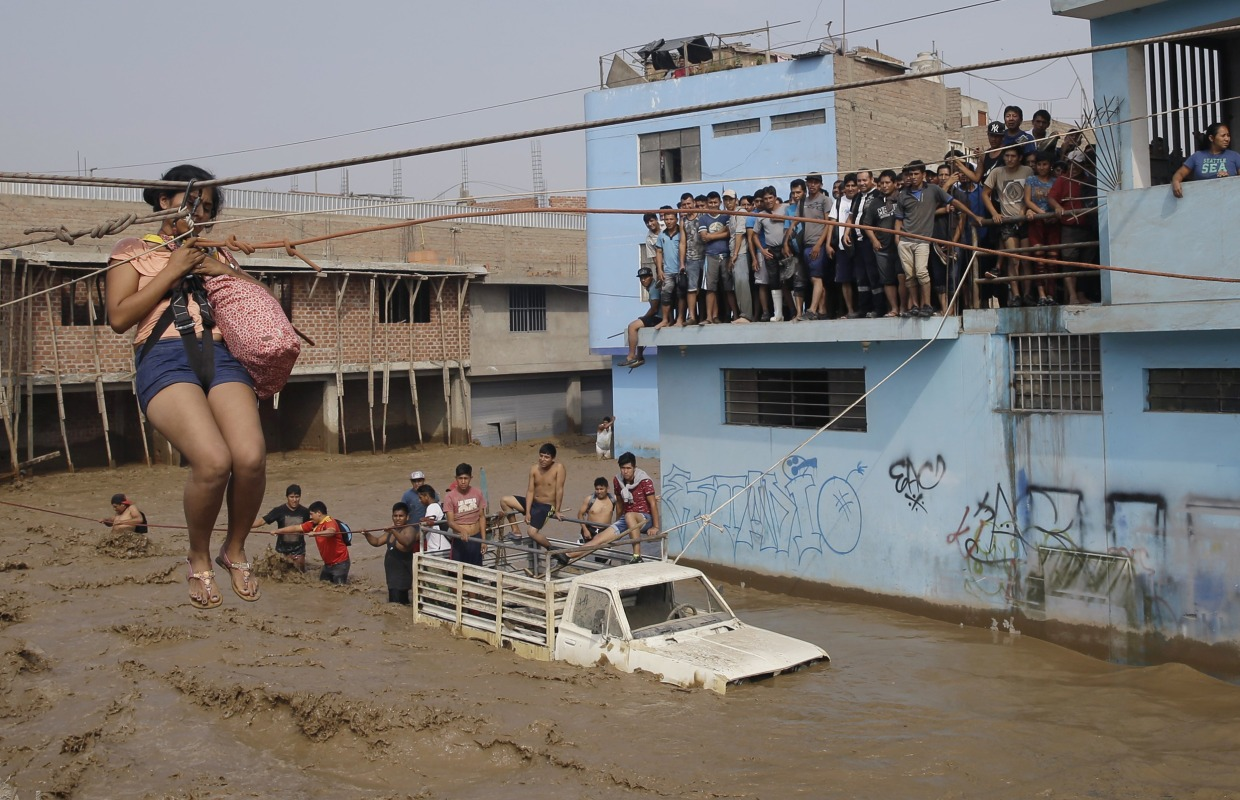 Heavy Rains Flood Desert Capital of Peru