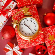 Gifts with clock.