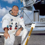 Image: Apollo and Skylab astronaut Alan Bean, the fourth human to walk on the moon.