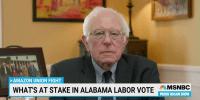 Sen. Bernie Sanders on Historic Alabama Unionizing Vote