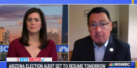 """""""This is hurting our democracy,"""" says Maricopa County Supervisor Steve Gallardo on the Arizona election audit"""