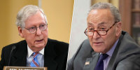 WATCH: Schumer, McConnell offer opposing views on voting rights bill in Senate