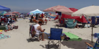 Americans hit the beach for the holiday weekend