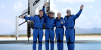 'Best day ever!': Watch highlights from Jeff Bezos launch to edge of space
