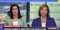 """""""You get into a mass casualty triage mindset,"""" says Dr. Louann Woodward on the influx of COVID patients into Mississippi hospitals"""