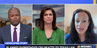 """""""We've seen people staking out health centers, increased surveillance, suspicious calls."""" Planned Parenthood President & CEO Alexis McGill Johnson reacts to the anti-abortion law in Texas"""