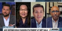 """AOC's """"tax the rich"""" dress at Met Gala stirs controversy"""