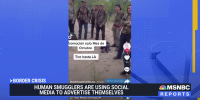 Human smugglers are using social media to advertise their services