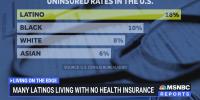 Many Latinos living with no health insurance