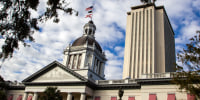 Image: old and new Florida state capitols