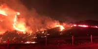 A wildfire in northern San Diego County, Calif., on Dec. 24 triggered evacuation orders.