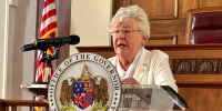 Alabama Gov. Kay Ivey speaks during a news conference in Montgomery, Ala. on July 29, 2020.