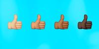 Image: Diverse thumbs up emojis