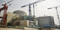 The joint Sino-French Taishan Nuclear Power Station being built outside the city of Taishan, China, in 2013.