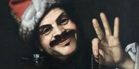 A self-portrait of 17th century Italian artist Pietro Bellotti, found in a dumpster in Germany.