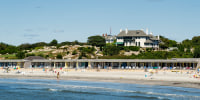 Image: Spouting Rock Beach Association, also known as Bailey's Beach is an elite private beach and club, Rhode Island.