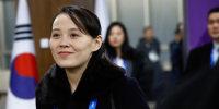 Image: North Korea's Kim Jong Un's sister Kim Yo Jong arrives for the opening ceremony of the Pyeongchang 2018 Winter Olympic Games at the Pyeongchang Stadium