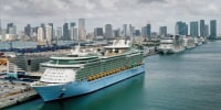 Image: Royal Caribbean Conducts Test Cruise Of It's Freedom of the Seas Ship, As Cruise Industry Prepares To Restart