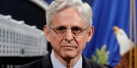 Image: Attorney General Merrick Garland during a news conference at the Department of Justice in Washington