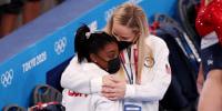 Image: Simone Biles, Cecile Landi, Gymnastics - Artistic - Olympics: Day 4