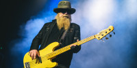 Dusty Hill of ZZ Top performs on July 26, 2017, in Glasgow, Scotland.