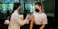 Image: Student receiving vaccine