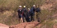 Emergency personnel search for a hiker on Camelback Mountain in Arizona on July 30, 2021.