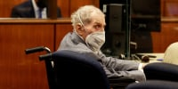 Robert Durst looks at jurors during the closing arguments in his murder trial at the Inglewood Courthouse in California on Sept. 8, 2021.