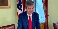 hio Senate Finance Chairman Matt Dolan talks about the state's $75 billion budget in Columbus, Ohio on June 8, 2021.