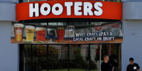 Image: A Hooters restaurant in Los Angeles.