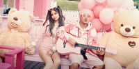 """Controversial Malaysian singer """"Namewee"""" featuring Kimberly Chen in """"It might break your pinky heart""""."""