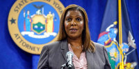 New York Attorney General Letitia James at a news conference at her office, in New York on May 21, 2021.