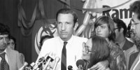 Ramsey Clark, shown here on Sept. 14, 1976, served as U.S. attorney general in the Johnson administration. He died Friday.