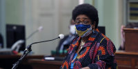 Assemblywoman Shirley Weber, D-San Diego, calls on lawmakers to create a task force to study and develop reparation proposals for African Americans in Sacramento, Calif., on June 11, 2020.